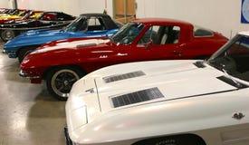 Une flotte de voitures de sport rares et collectables de Corvette Photos stock