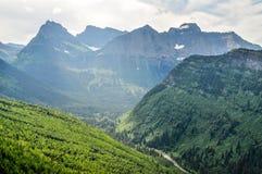 Une fois que grand les glaciers retraitent en parc national de glacier photos stock