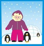 Une fois sur le pôle nordique Photo stock