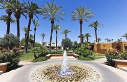 Une fontaine au tipi, stationnement de Litchfield, Arizona Photos stock