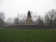Une fontaine dans le Vondelpark, Amsterdam photo libre de droits