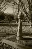 Une fontaine en parc image stock