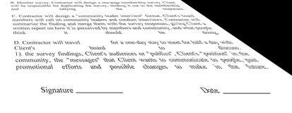 Une forme blanc vide de contrat, Photo libre de droits