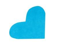 Une forme de coeur de papier bleu pour le jour de valentines Photographie stock libre de droits