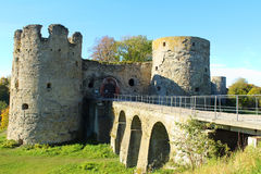 Une forteresse médiévale. Image stock