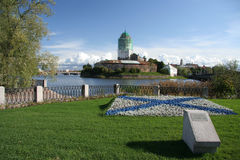 Une forteresse suédoise antique dans Vyborg Images stock