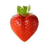 Une fraise en forme de coeur Photographie stock libre de droits