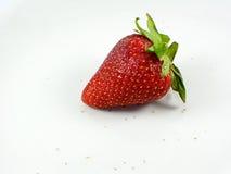 Une fraise rouge sur le fond blanc Photos stock