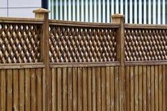Une frontière de sécurité en bois Images stock