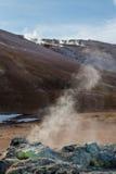 Une fumerolle sur la pente du Mt Namafjall Photo libre de droits