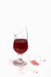 une glace cassée avec du vin Photo stock