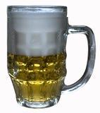 Une glace de bière blonde photos stock