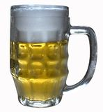 Une glace de bière blonde photo stock