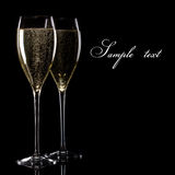 Une glace de champagne Image libre de droits