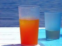 Une glace de jus d'orange Photo stock