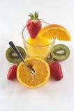 Une glace de jus de fruit images libres de droits