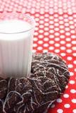 Une glace de lait et de biscuits Photo stock