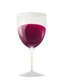 Une glace de vin rouge Image stock
