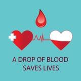 Une goutte de sang sauve les vies Photographie stock