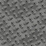 Une grande feuille de plat brillant intéressant de bande de roulement de chrome Photo libre de droits