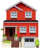 Une grande maison en bois illustration stock