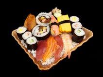 Une grande pile des sushi Photographie stock libre de droits