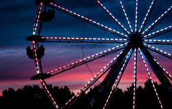 Une grande roue chez le Deerfield juste dans Deerfield, New Hampshire, le 26 septembre 2014 Photos stock