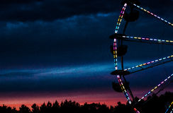 Une grande roue chez le Deerfield juste dans Deerfield, New Hampshire, le 26 septembre 2014 Photo stock