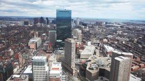 Une grande vue aérienne de la ville de Boston, le Massachusetts banque de vidéos