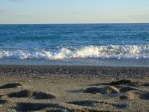 Une grande vue au bord de la mer de Gênes dans Bocadassw Images libres de droits