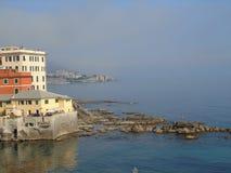 Une grande vue au bord de la mer de Gênes dans Bocadassw Images stock