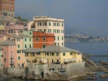 Une grande vue au bord de la mer de Gênes dans Bocadassw Photo libre de droits