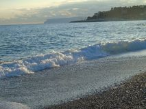 Une grande vue au bord de la mer de Gênes dans Bocadassw Photo stock