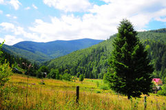 Une grande vue des montagnes Photos stock