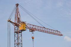 Une grue de construction photographie stock