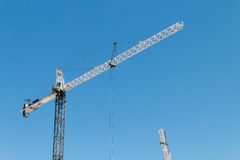 Une grue de construction Photos stock