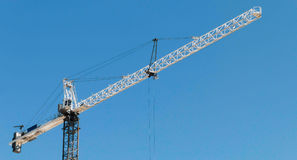 Une grue de construction Photo libre de droits