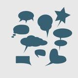 Une haute maquette de détail d'une page typique de bande dessinée avec de diverses bulles de la parole, symboles et effets sonore illustration libre de droits