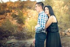Une histoire d'amour en nature Photo stock