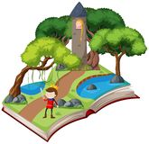 Une histoire de conte de fées de livre illustration de vecteur