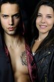 Une histoire de vampire - un couple mystérieux Image libre de droits