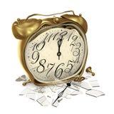 Une horloge cassée Image stock