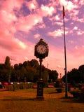 Une horloge dans le parck Photo libre de droits