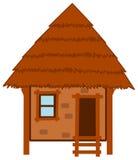 Une hutte faite en bois et boue et paille Photos libres de droits