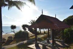 Une hutte près de plage Photo libre de droits