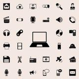 une icône d'ordinateur portable Ensemble détaillé d'icônes minimalistic Conception graphique de la meilleure qualité Une des icôn Images libres de droits