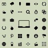une icône d'ordinateur portable Ensemble détaillé d'icônes minimalistic Conception graphique de la meilleure qualité Une des icôn Photographie stock libre de droits