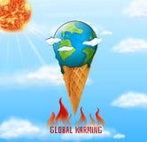 Une icône de réchauffement global illustration libre de droits