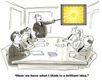 Une idée brillante Image libre de droits