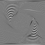 Une illusion optique noire et blanche Illustration de vecteur illustration stock